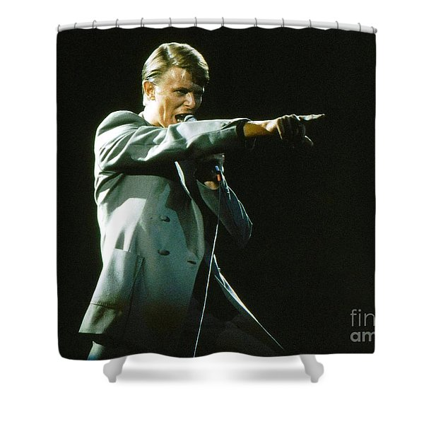 David Bowie The Point Shower Curtain
