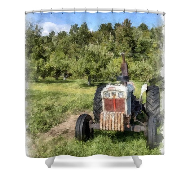 David Brown Case Vintage Tractor Shower Curtain