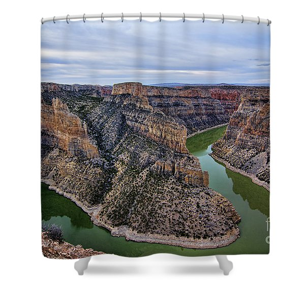 Dawn At Devils Overlook Bighorn Canyon Shower Curtain