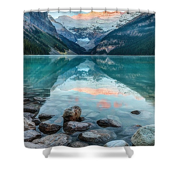 Dawn At Lake Louise Shower Curtain