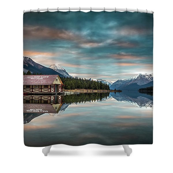 Dawn At Maligne Lake Shower Curtain
