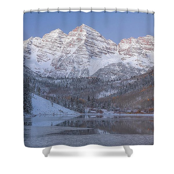 Shower Curtain featuring the photograph Dawn At Maroon Bells 2 by Jemmy Archer