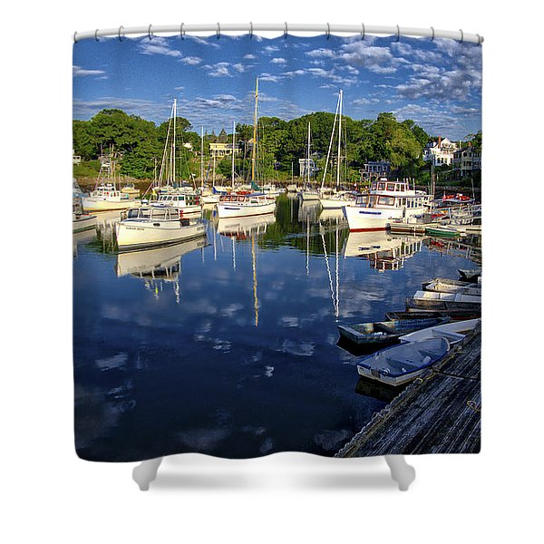 Dawn At Perkins Cove - Maine Shower Curtain