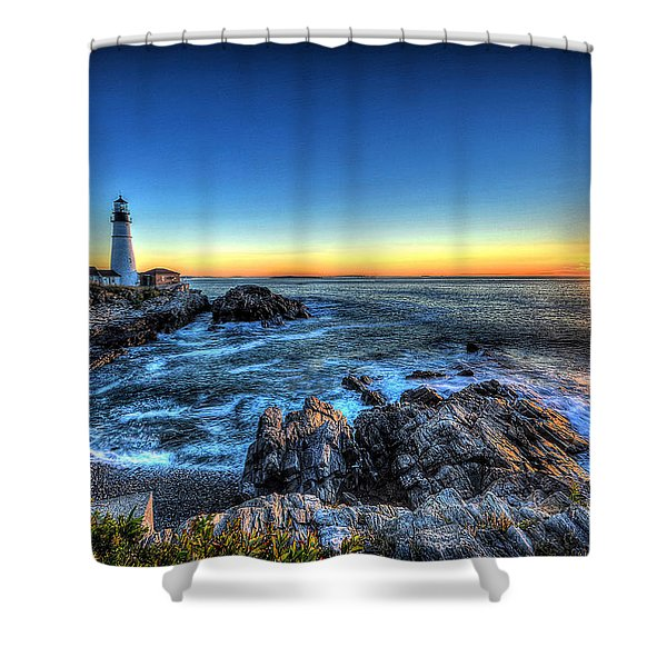 Dawn At Portland Head Lighthouse Shower Curtain