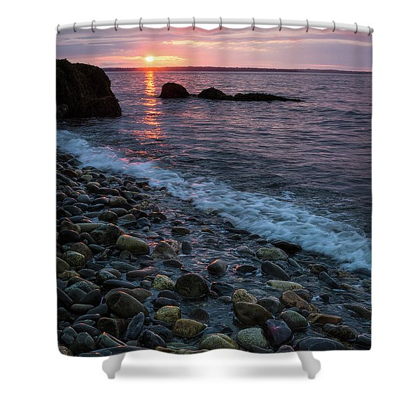 Dawn, Camden, Maine  -18868-18869 Shower Curtain