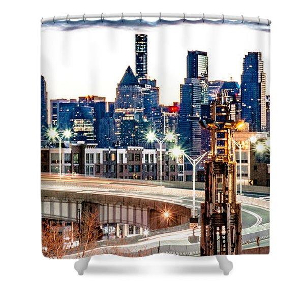 Dawn Commute Shower Curtain