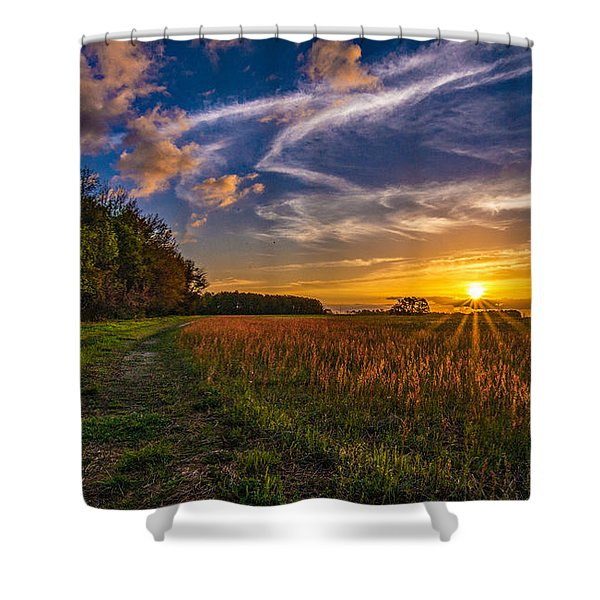 Dawn In The Lower 40 Shower Curtain