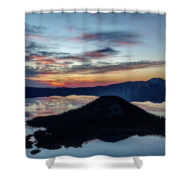 Dawn Inside The Crater Shower Curtain