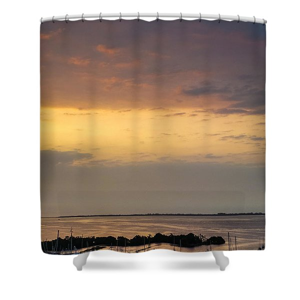 Dawn On The Bay Shower Curtain