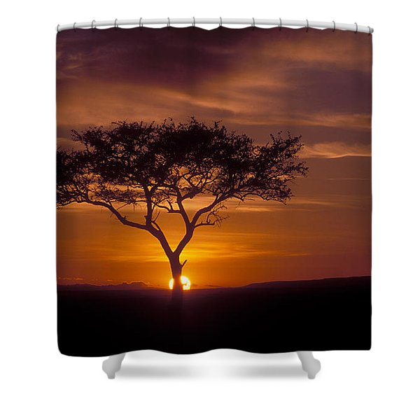 Dawn On The Masai Mara Shower Curtain