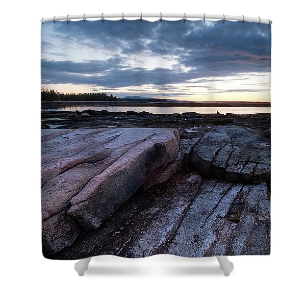 Dawn On The Shore In Southwest Harbor, Maine  #40140-40142 Shower Curtain