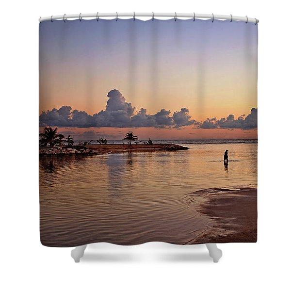 Dawn Reflection Shower Curtain