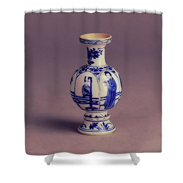 Miniature Vase From The Kangxi Shower Curtain