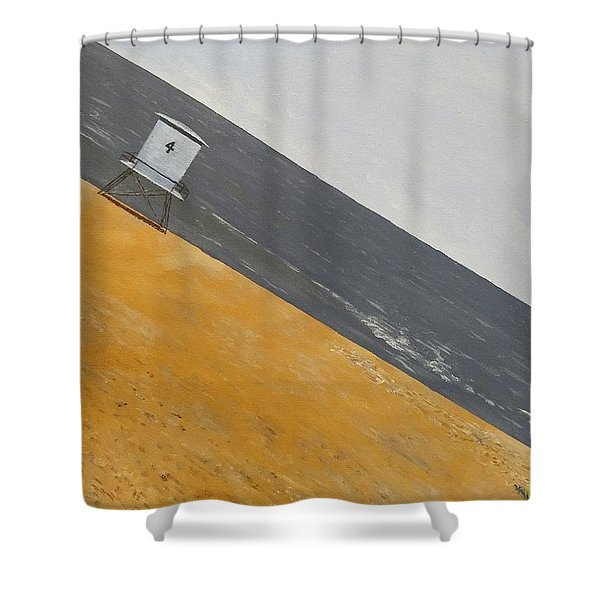 Shower Curtain featuring the painting Day At The Beach by Kevin Daly