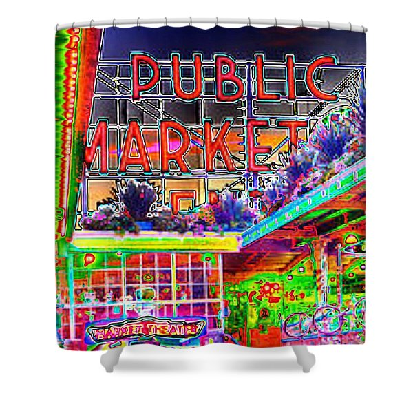 Day At The Market Shower Curtain