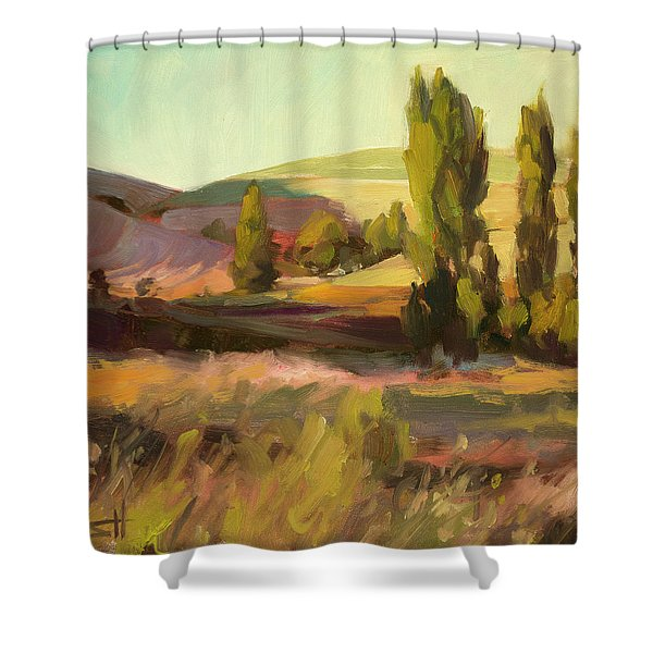 Day Closing Shower Curtain