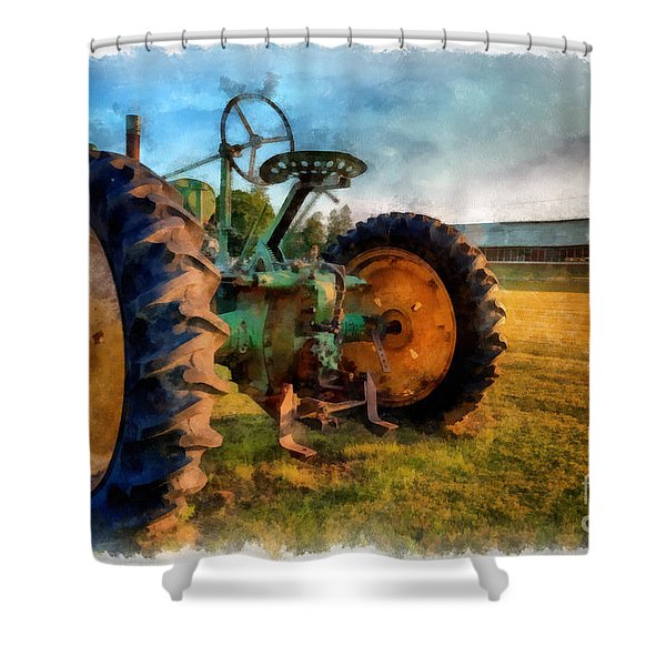 Day Is Done Watercolor Shower Curtain