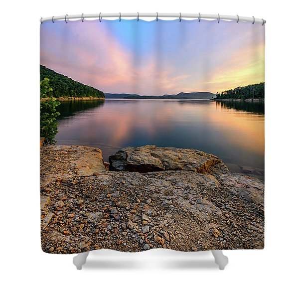 Day Light On The Bay Shower Curtain