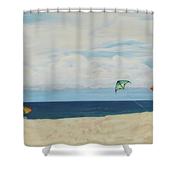 Day On Beach Shower Curtain