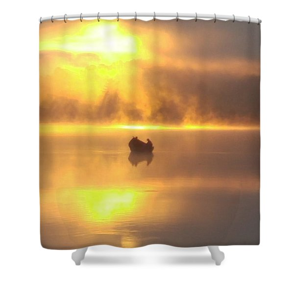 Daybreak Fishermen Shower Curtain
