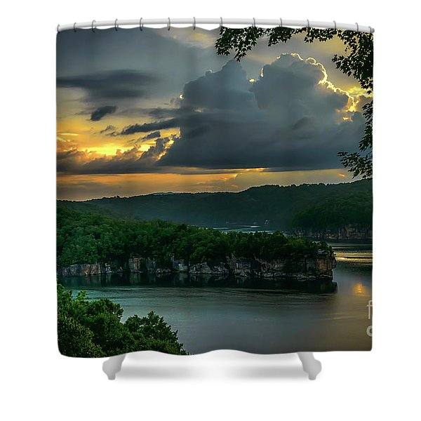 Daybreak Over Long Point Shower Curtain