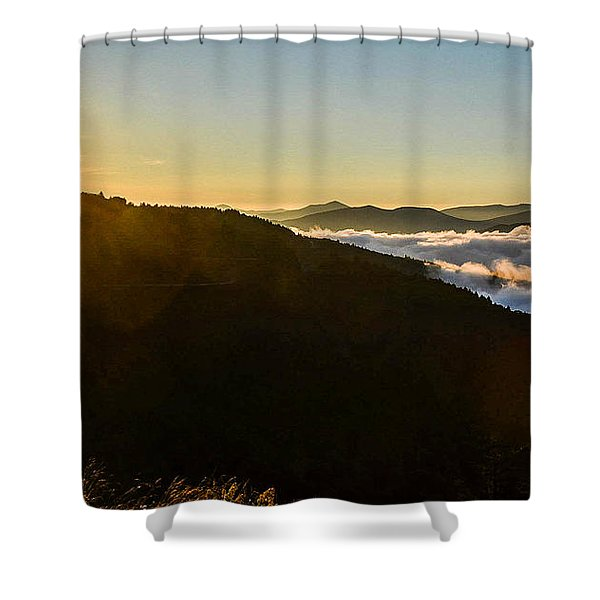 Daylight Above The Clouds Shower Curtain