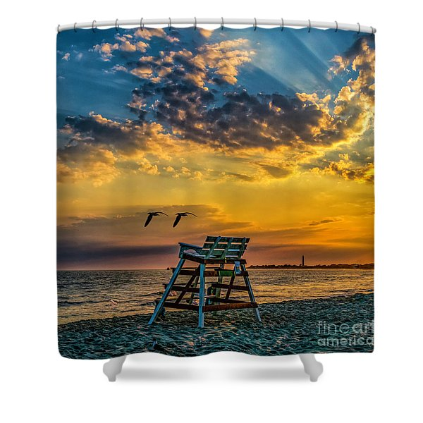 Days End In Cape May Nj Shower Curtain