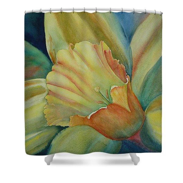 Dazzling Daffodil Shower Curtain