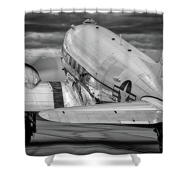 Dc3 Taxiing For Departure Shower Curtain