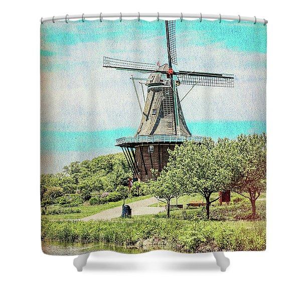 De Zwaan Windmill Shower Curtain