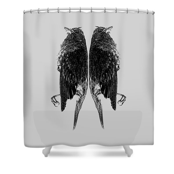 Dead Birds Tee Shower Curtain