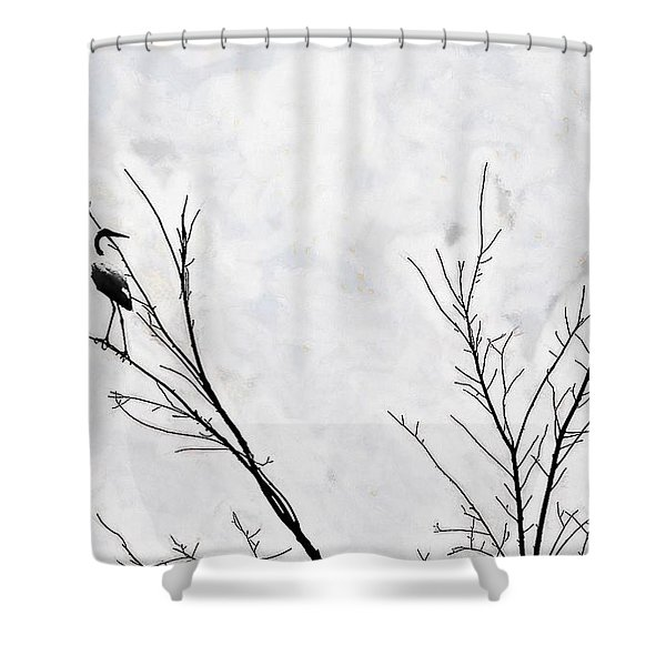 Dead Creek Cranes Shower Curtain