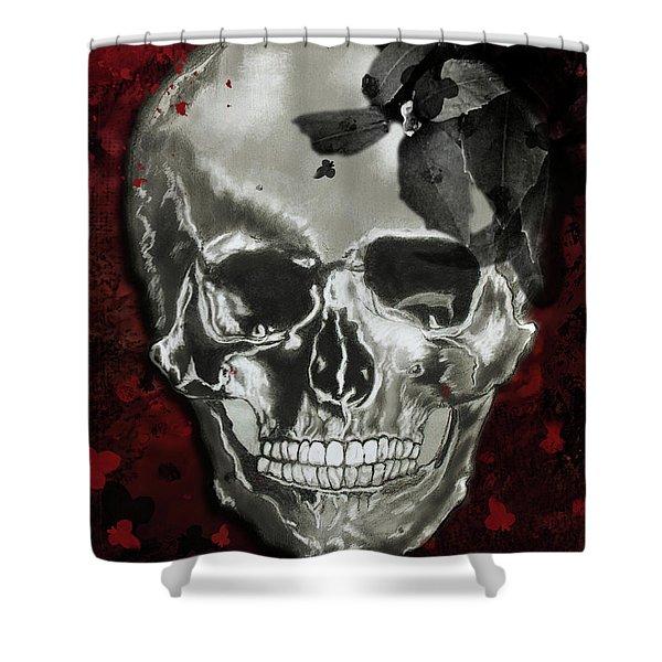 Dead Fancy Skull Shower Curtain