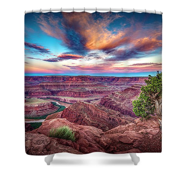 Dead Horse Point At Sunrise Shower Curtain