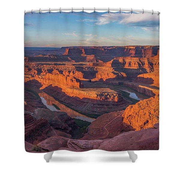 Dead Horse Point Sunrise Panorama Shower Curtain
