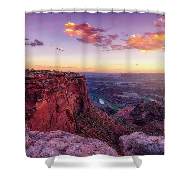Dead Horse Point Sunset Shower Curtain