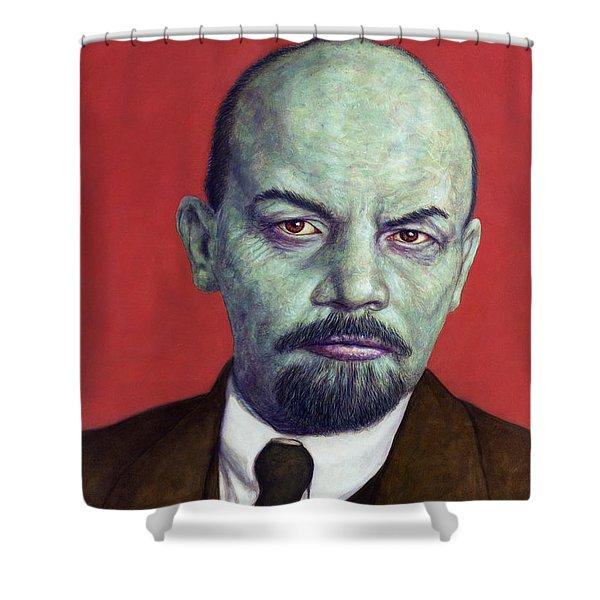 Dead Red - Lenin Shower Curtain