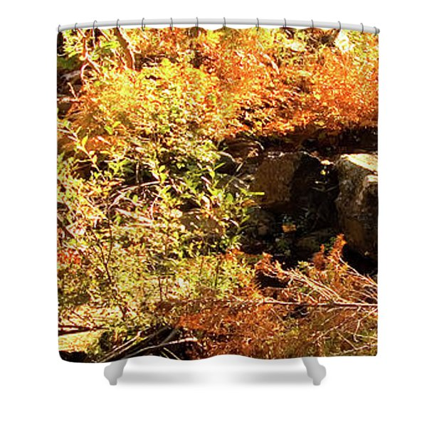 3 Of 6 Dead River Falls  Marquette Michigan Section Shower Curtain