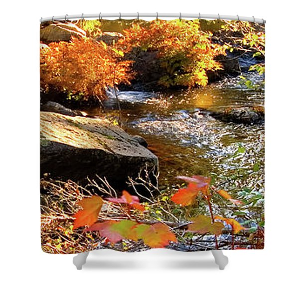4 Of 6 Dead River Falls  Marquette Michigan Section Shower Curtain