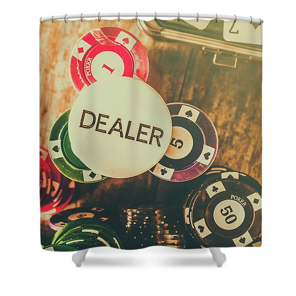 Dealers House Edge Shower Curtain
