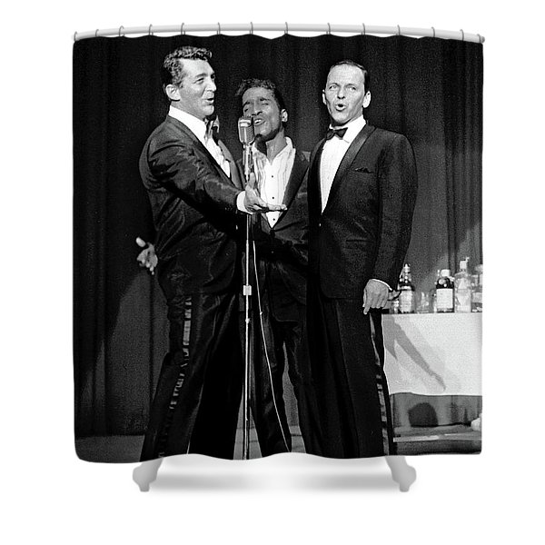 Dean Martin, Sammy Davis Jr. And Frank Sinatra. Shower Curtain