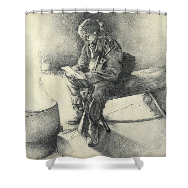 Letter From Home Shower Curtain