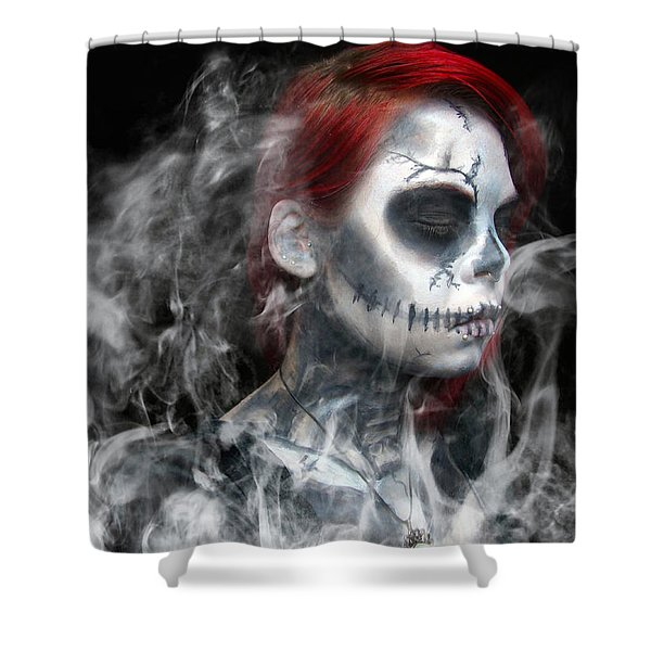 Death Becomes Us Shower Curtain
