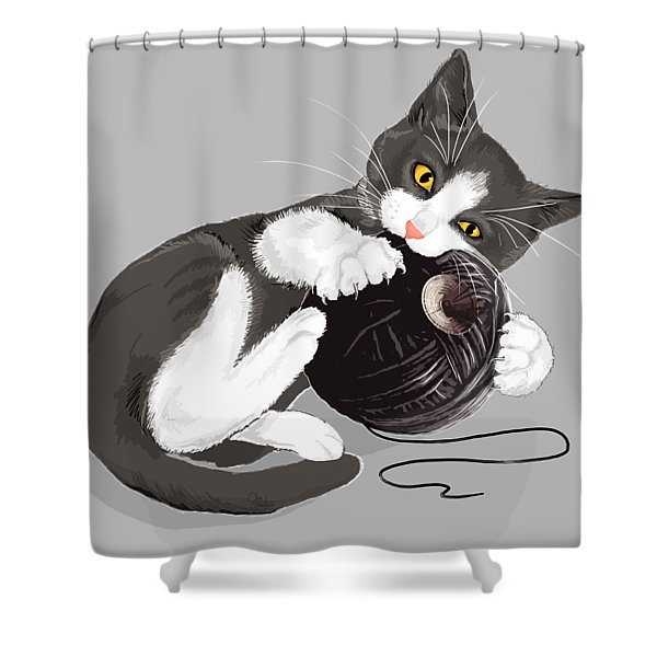 Death Star Kitty Shower Curtain