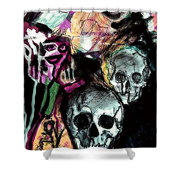 Death Study-2 Shower Curtain