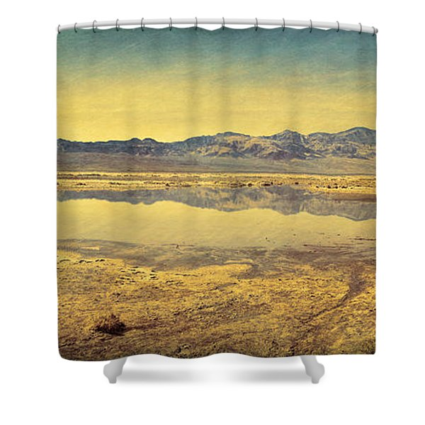 Death Valley Lake Shower Curtain