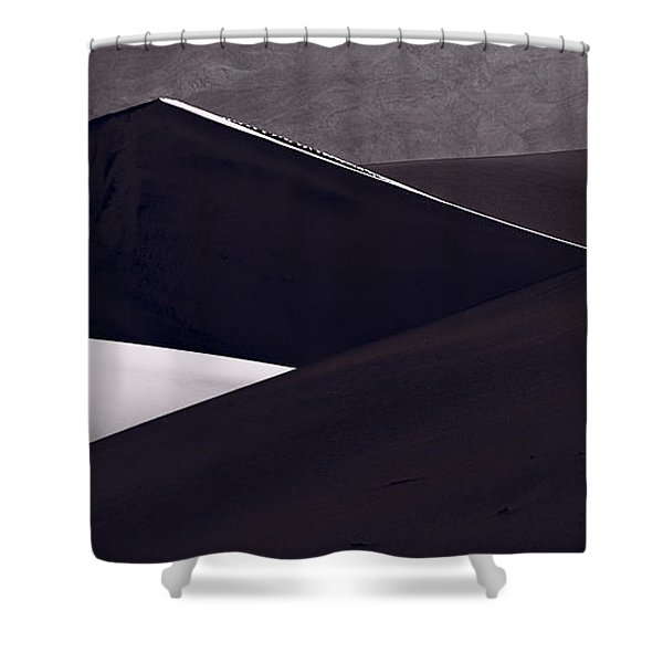 Death Valley Sand Dune Panorama Bw Shower Curtain