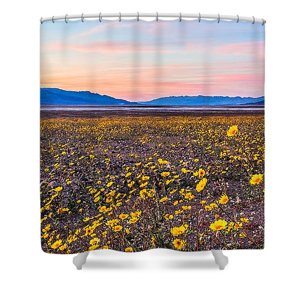 Death Valley Sunset Shower Curtain