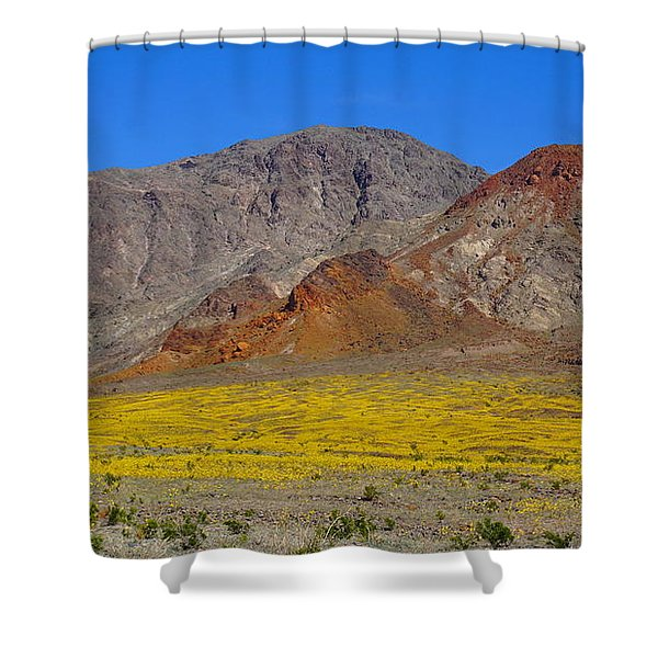 Death Valley Superbloom Shower Curtain