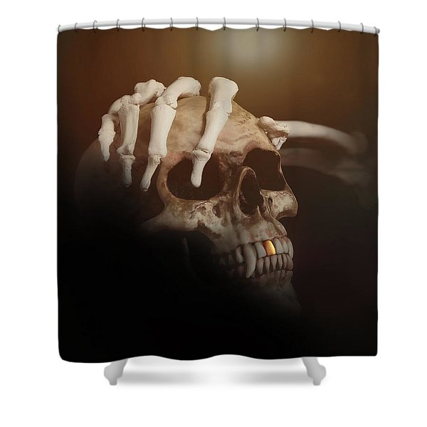 Death's Head Shower Curtain